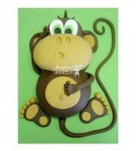 №2646 3D Торт обезьянка