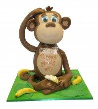№2654 3D Торт обезьянка