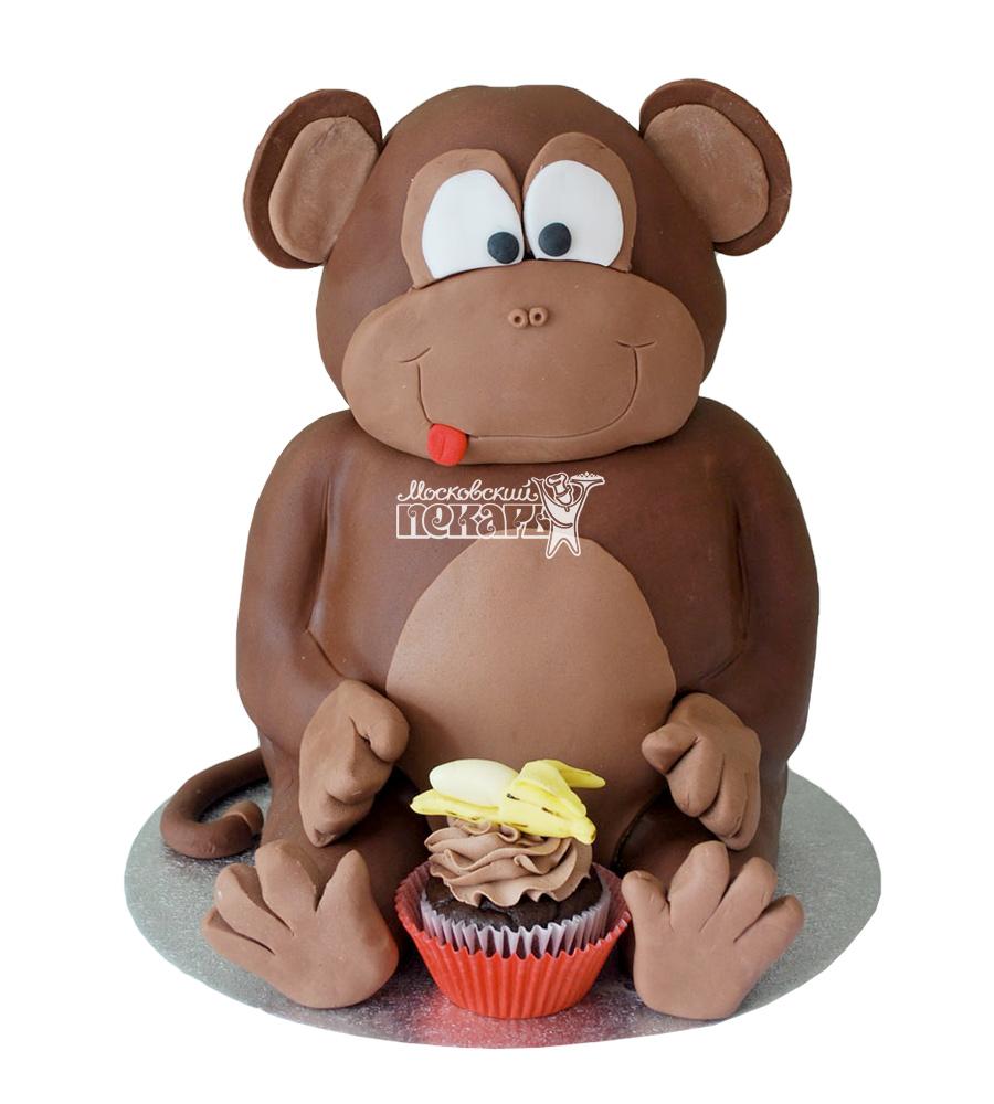 №2657 3D Торт обезьянка