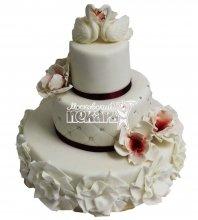 №2809 Свадебный торт с цветами