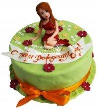 №2814 Торт на день рождения девушке