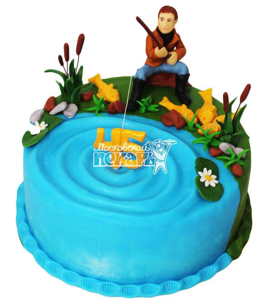 №2828 Торт рыбаку
