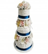 №2832 Свадебный торт с цветами