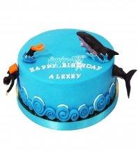 №2838 Торт рыбаку