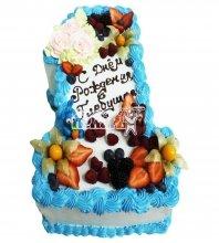 №2843 Торт с фруктами на 1 годик