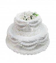 №2932 Свадебный торт со сливками