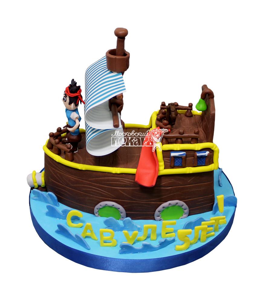 №2934 3D Торт корабль