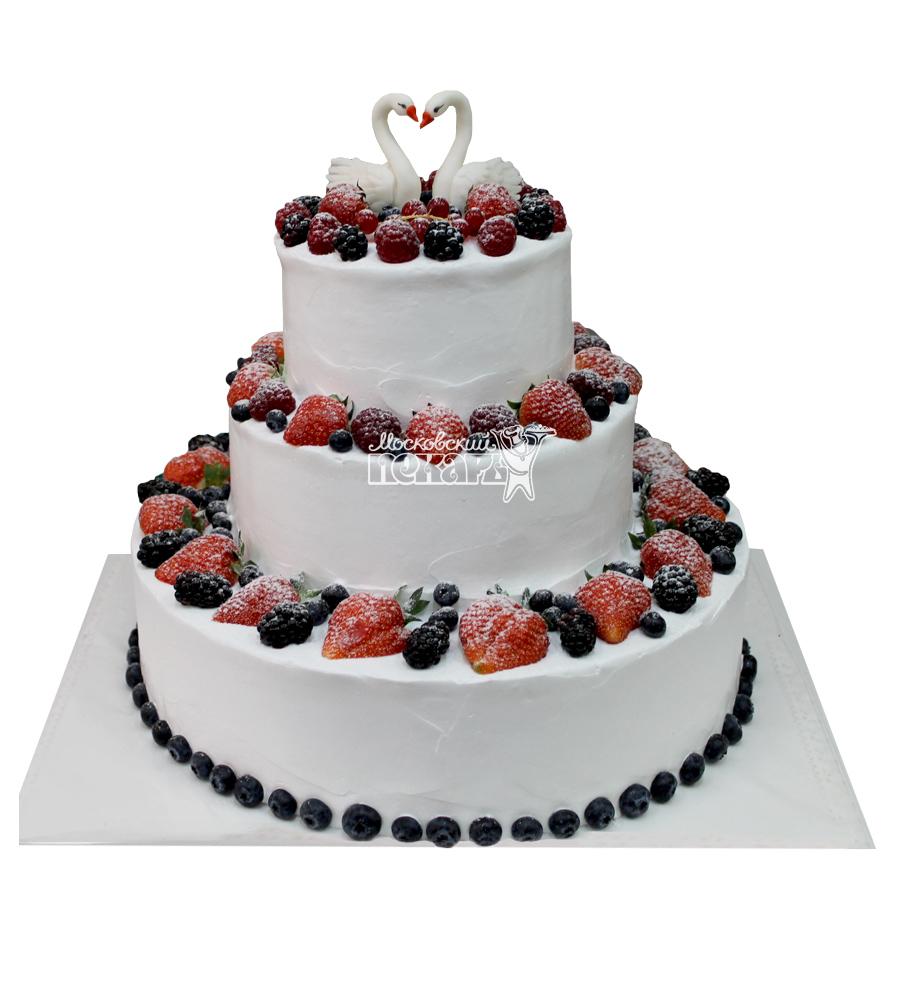 №2944 Свадебный торт со сливками