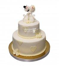 №2945 Свадебный торт классический