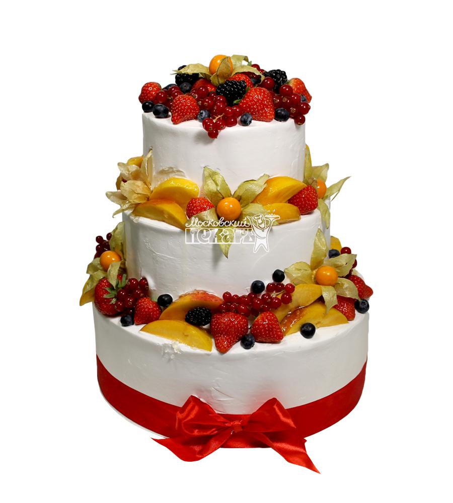 Торт декор фруктами фото