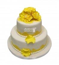 №2959 Свадебный торт с цветами