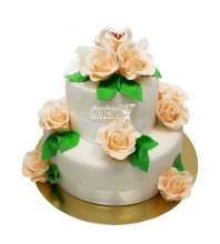 №2961 Свадебный торт с цветами