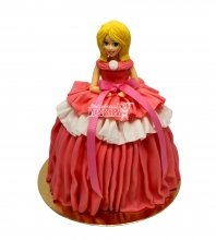 №2964 3D Торт кукла