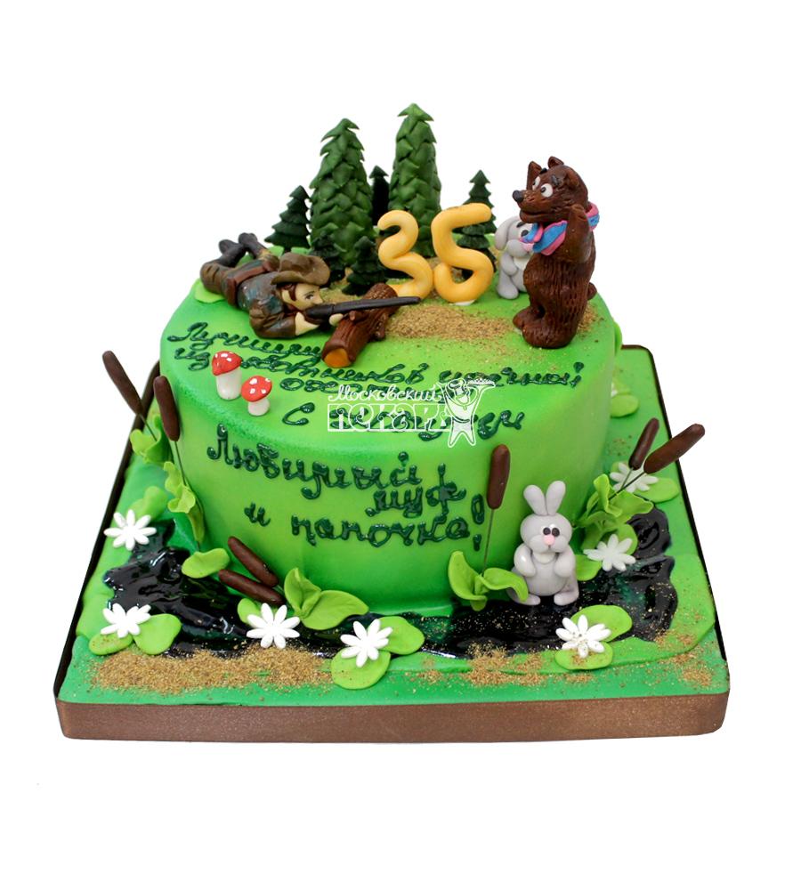 Торты для охотника на день рождения фото