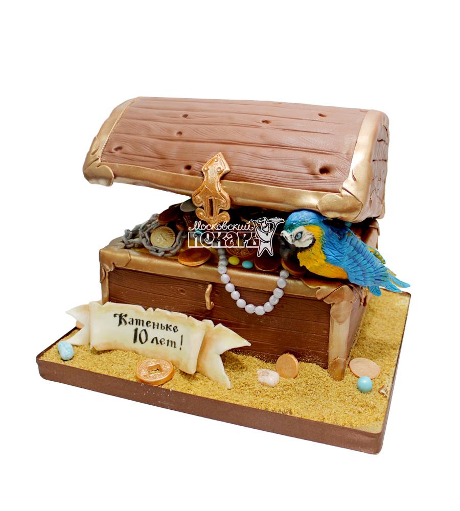 №2992 3D Торт пиратский сундук