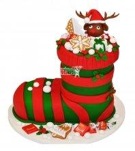№3016 3D Торт на Новый Год