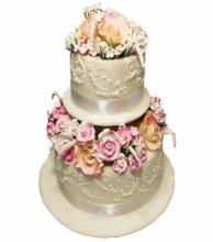 №3030 Свадебный торт с цветами