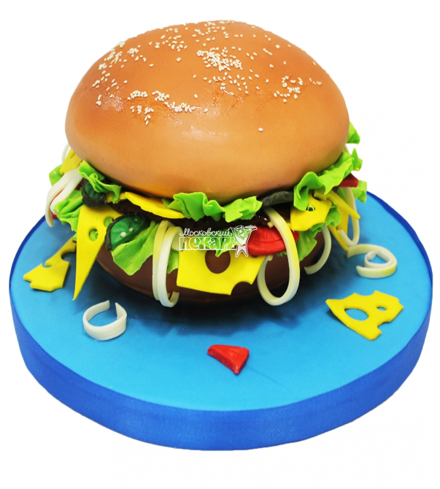 №3087 3D Торт Гамбургер
