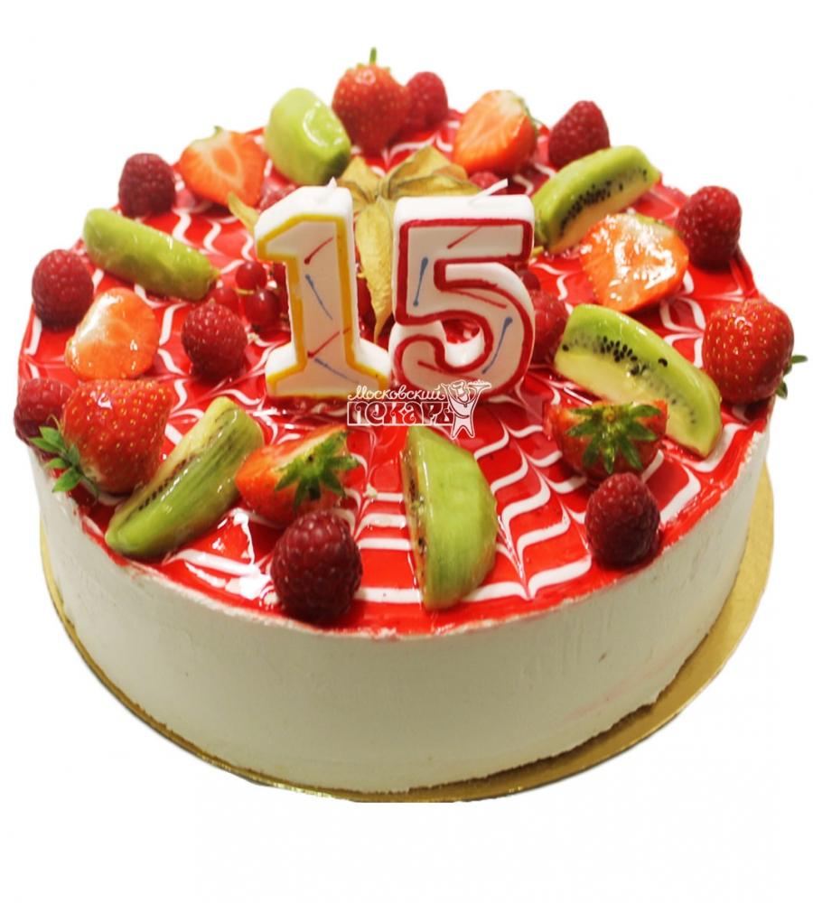 №3099 Торт с фруктами и ягодами