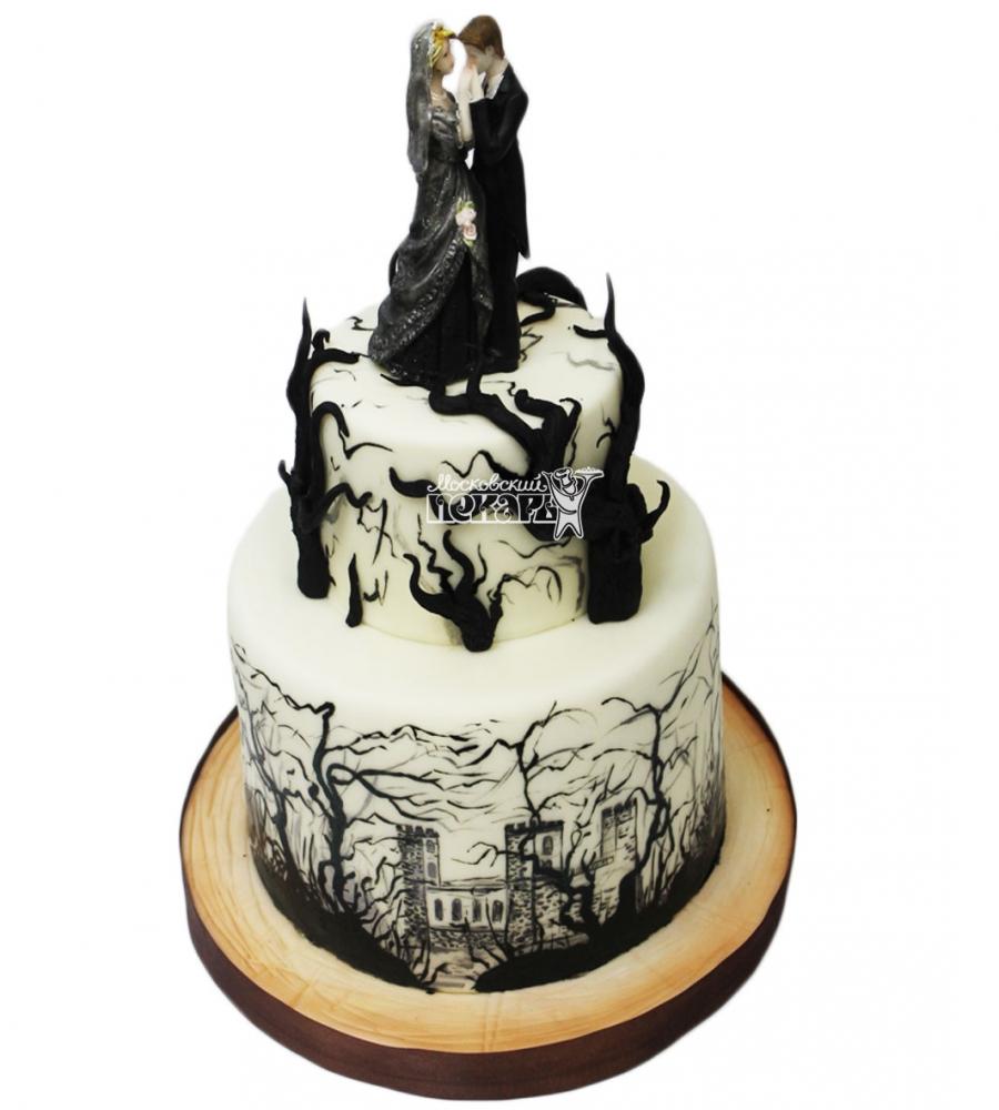 №3102 Оригинальный свадебный торт
