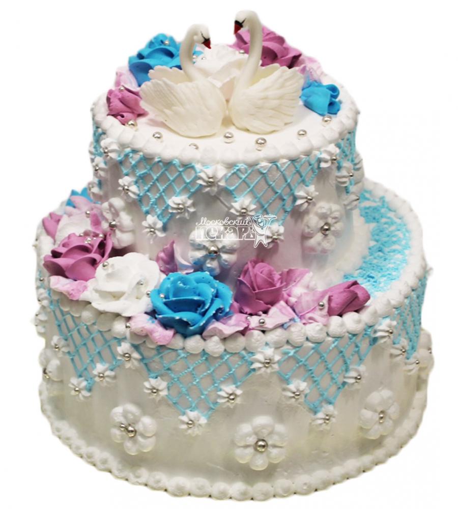№3103 Свадебный торт со сливками