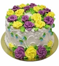 №3104 Торт с цветами