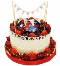 №3106 Торт с фруктами и ягодами