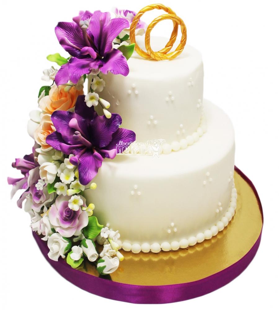 №3307 Свадебный торт с цветами