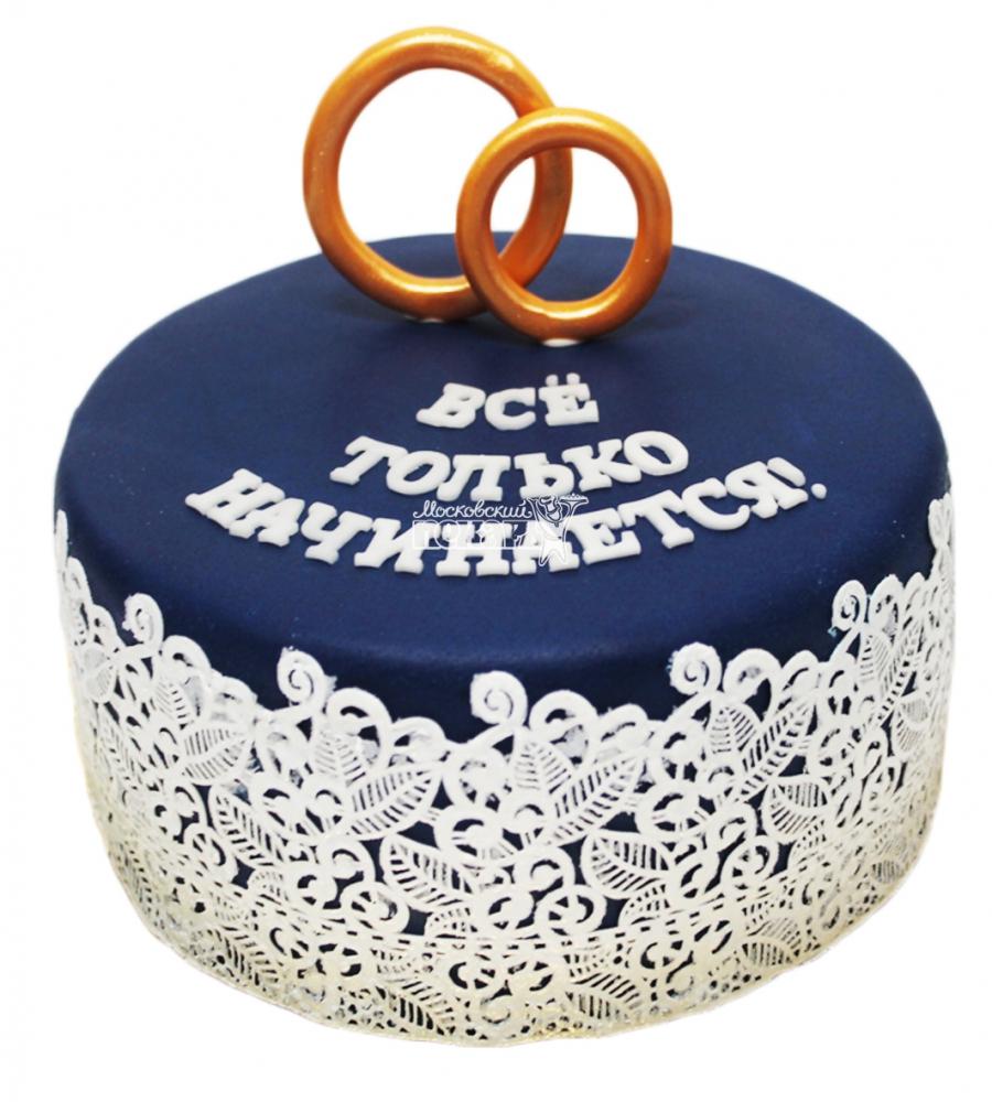 №3309 Свадебный торт с кольцами
