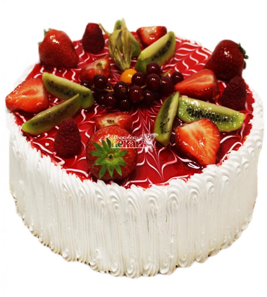 Шоколадный торт с вишневым кремом и ягодами (с