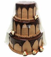 №3314 Свадебный торт со сливками