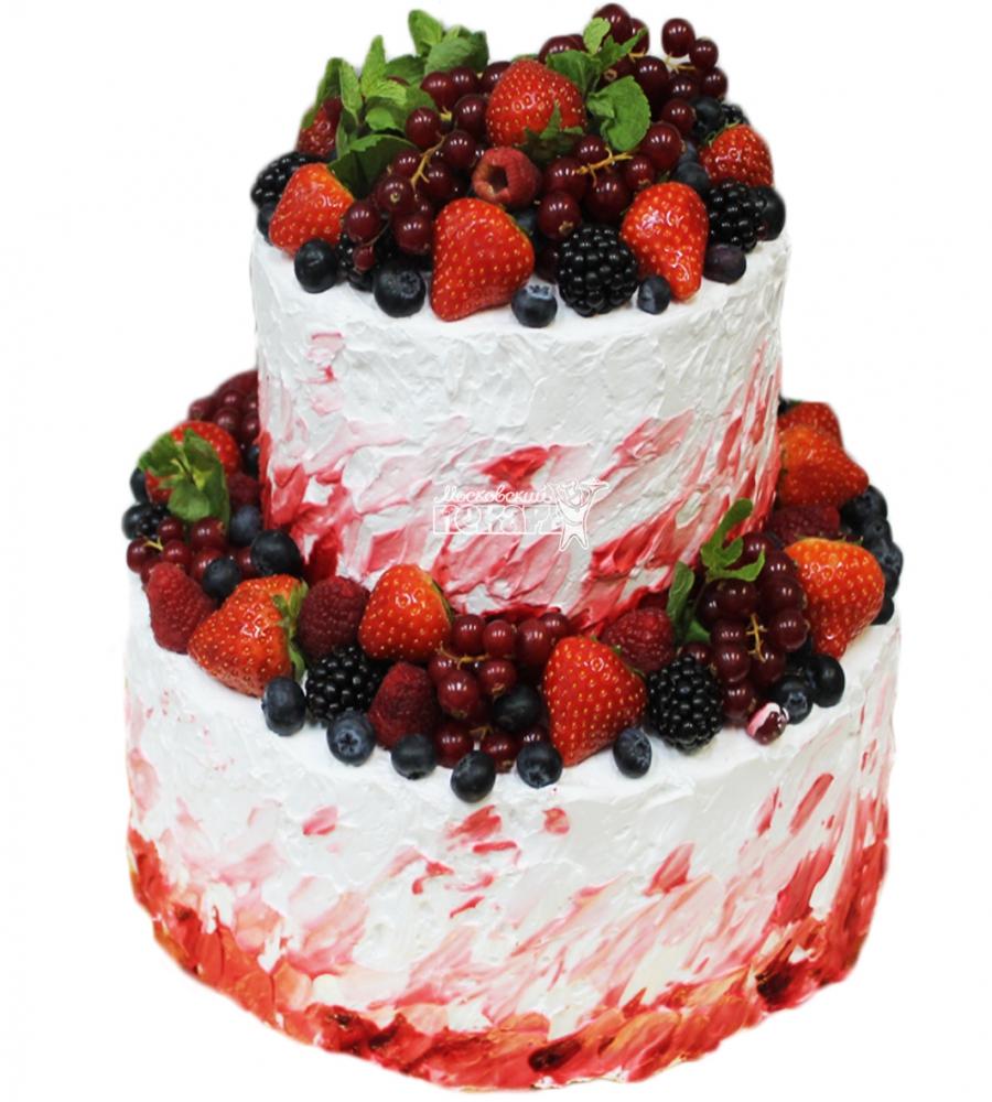 №3315 Торт со сливками и ягодами