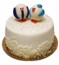 №3325 Свадебный торт с пингвинами
