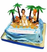 №3329 Торт с пальмами