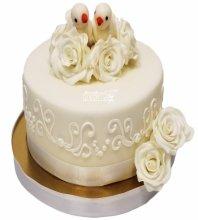 №3343 Свадебный торт Голуби