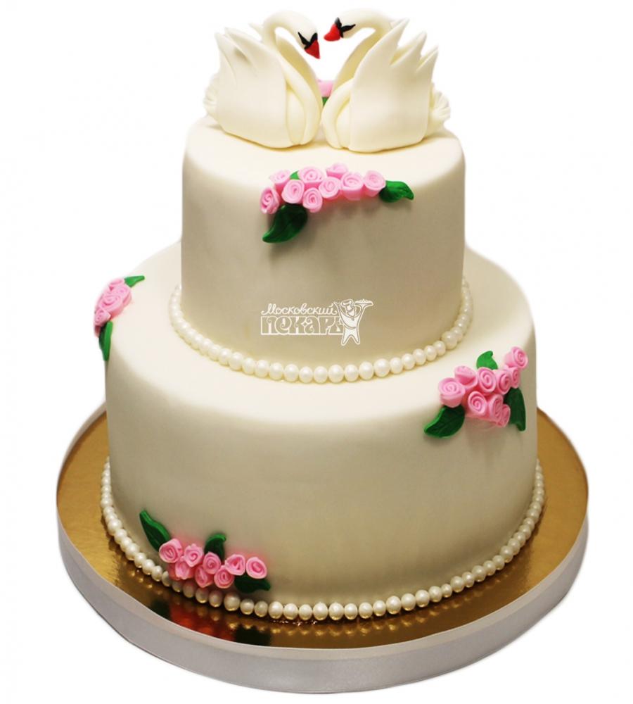 №3353 Свадебный торт Лебеди