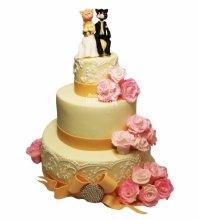 №3380 Свадебный торт с котами