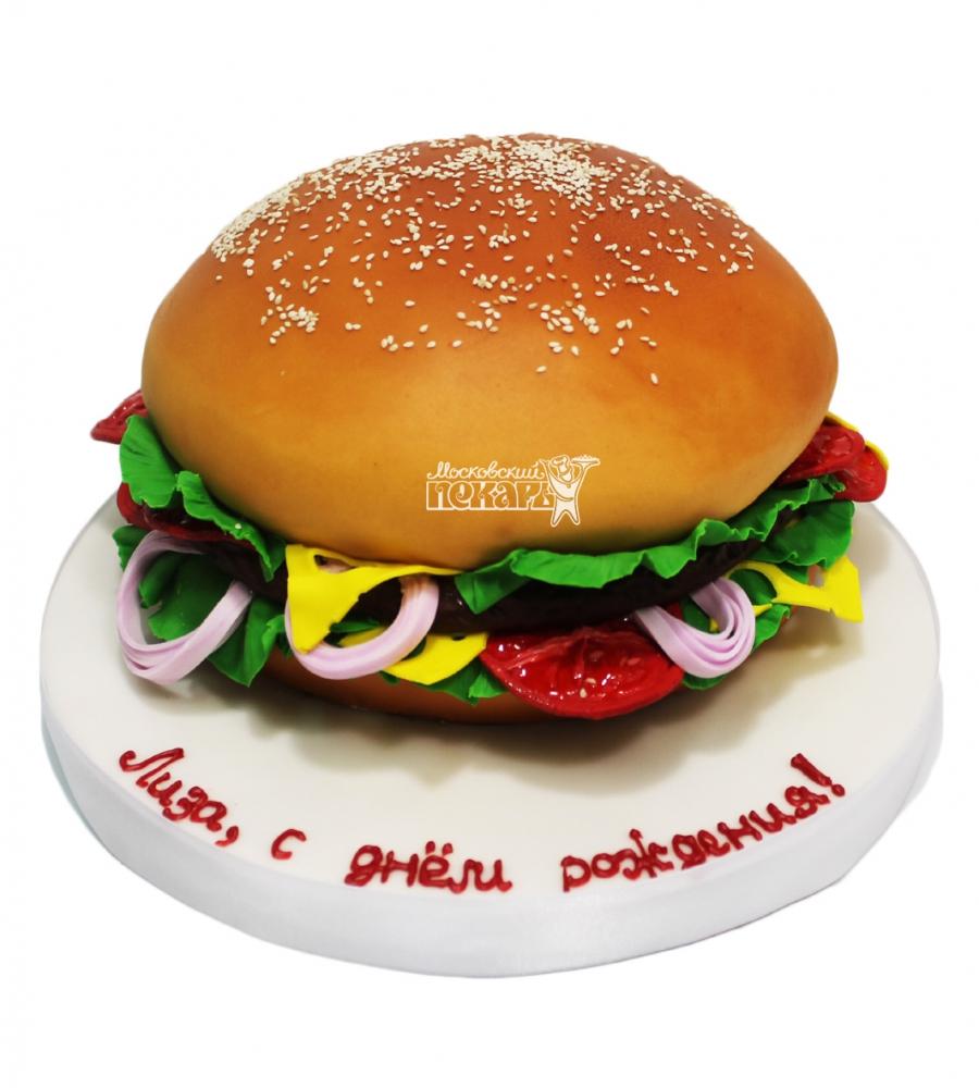 №3385 3D Торт Гамбургер