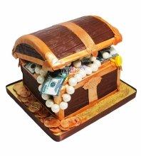 №3399 3D Торт Сундук