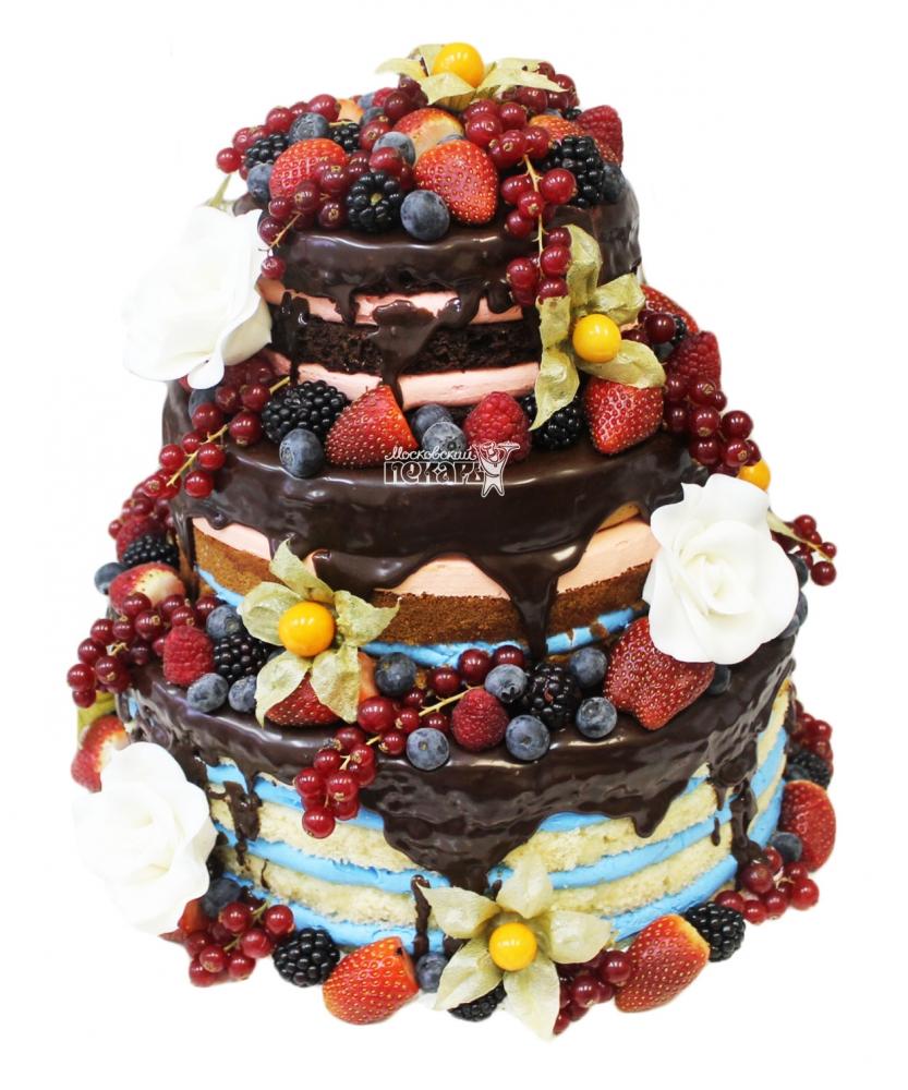 №3477 Торт с фруктами и ягодами