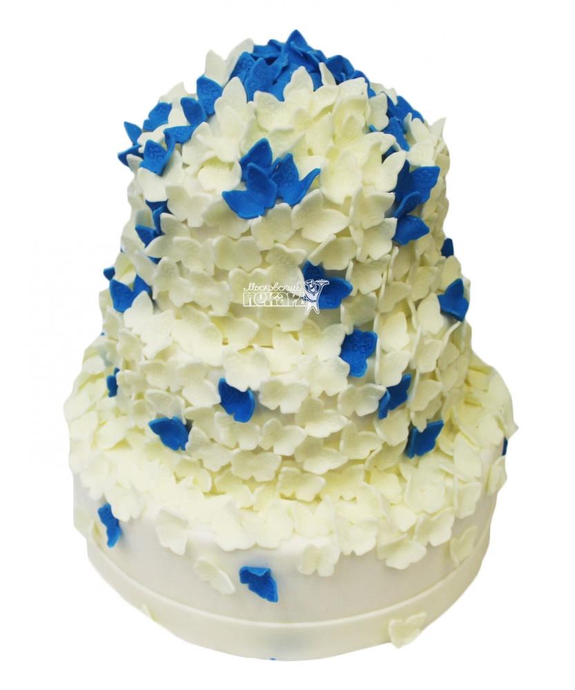 №3479 Свадебный торт с бабочками