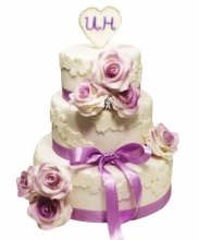 №3482 Свадебный торт с цветами