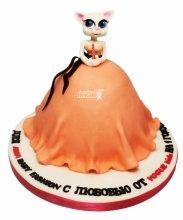 №3490 3D Торт Платье