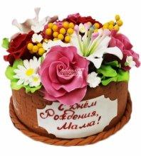 №3579 Торт корзина с цветами