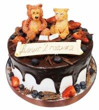 №3581 Торт с мишкой и кошечкой