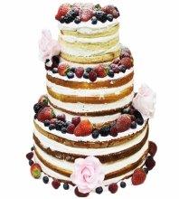 №3588 Свадебный голый торт