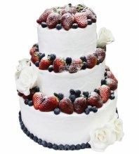 №3600 Свадебный торт со сливками