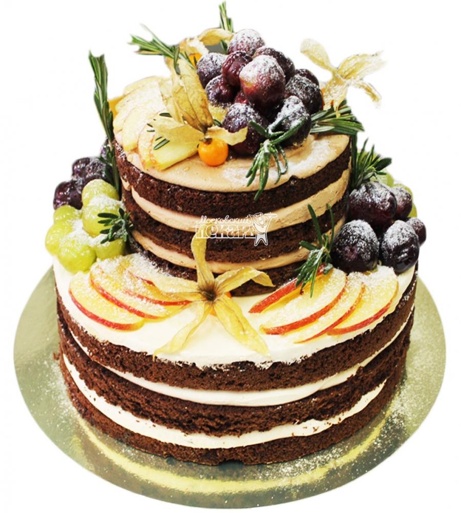 №3606 Торт с фруктами и ягодами