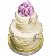№3616 Свадебный торт с цветами