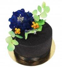 №3631 Велюровый торт с цветами